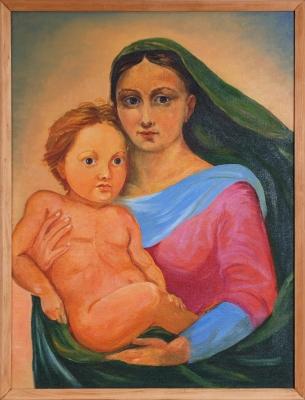 Копія. Фрагмент з картини Рафаеля Сикстинська мадонна